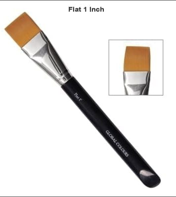 1 Inch Flat Brush for One-Stroke Face Painting