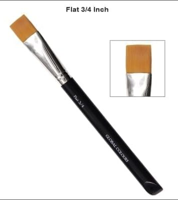 3/4 Inch Flat Brush One Stroke Face Painting