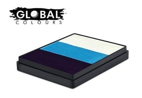 Alaska Rainbow split cake global colours face paints
