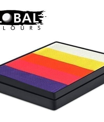 Caribbean Rainbow Cake Global Colours 50g Face Paints