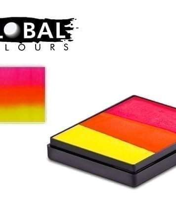 India Rainbow Cake Global Colours 50g Face Paints