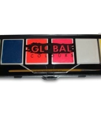 Neon Global Colours Palette & No. 4 Round Brush