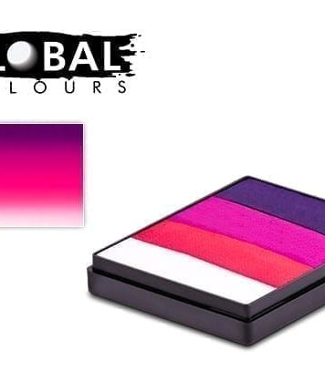 Neon Oxford Rainbow Cake Global Colours 50g Face Paints