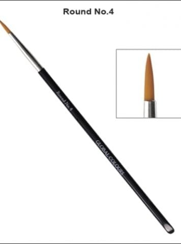 No.4 Round Brush Face Painting Global Colours