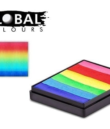 Neon Rainbow Rainbow Cake Global Colours 50g Face Paints