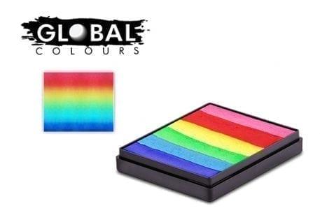 Rainbow cake global colours 50g face paints australia