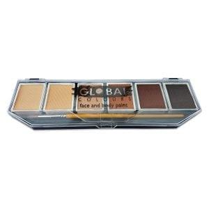 Skin Tone Global Colours Palette & No. 4 Round Brush