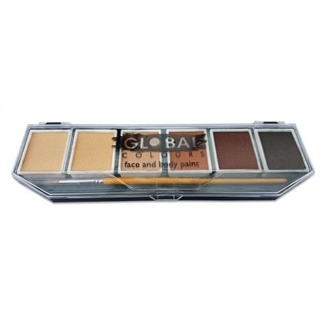Skin Tone Global Colours Palette & No. 4 Round Brush