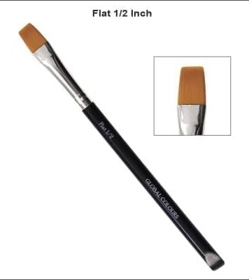 1/2 Inch Flat Brush One Stroke Face Painting