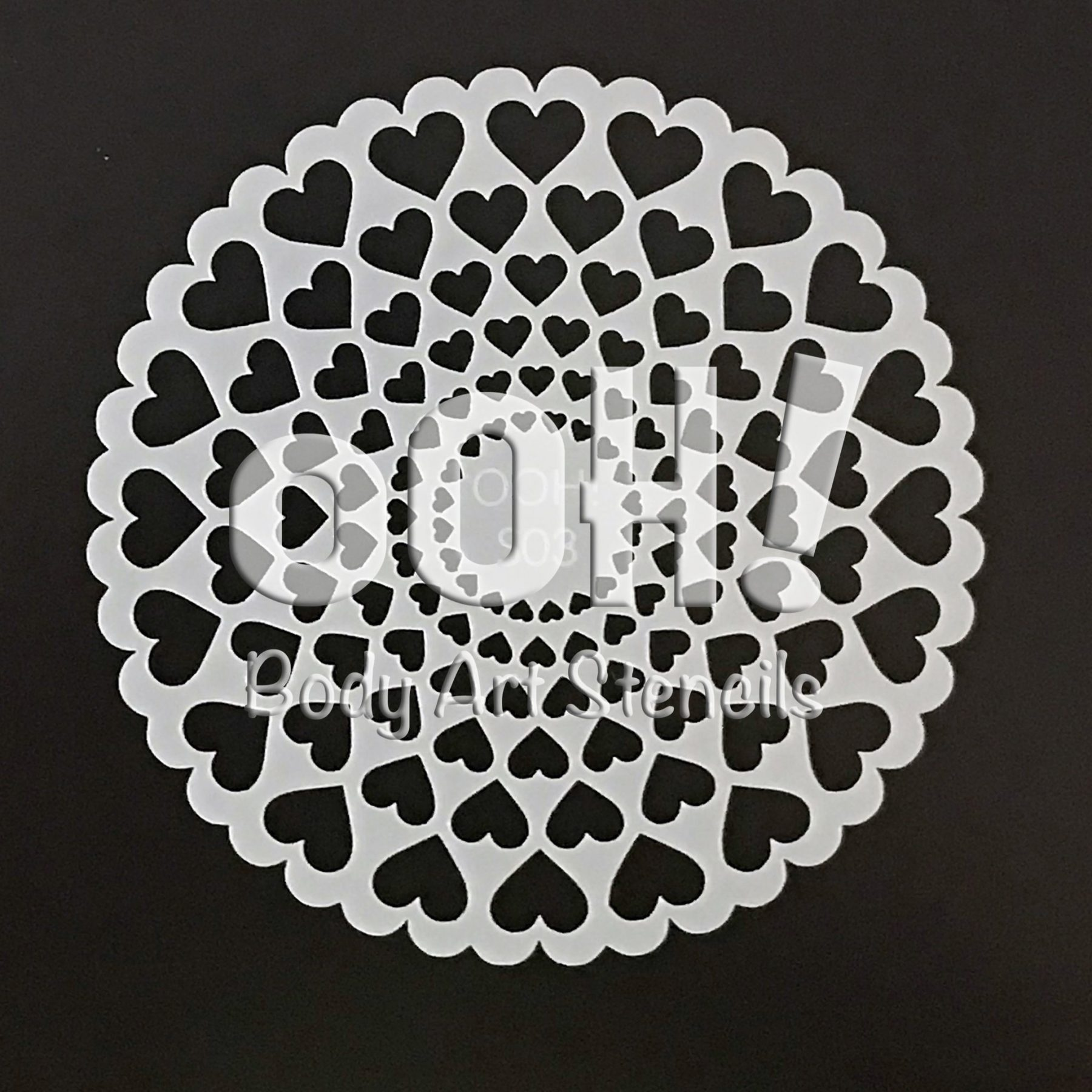 Ooh! Stencils Hearts Sphere Face Paint & Airbrush Stencil