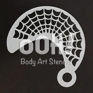 Spiderweb Wrap Face Painting Stencil australia