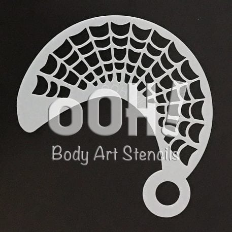 Spiderweb Wrap Face Painting Stencil australia