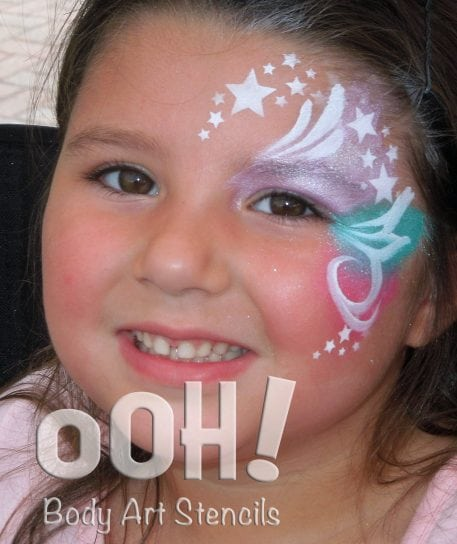 ooh face painting stencils stars
